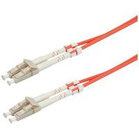 VALUE LWL-Kabel 62,5/125µm LC/LC, OM1, orange, 2,0 m