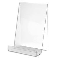 DEFLECTO Chevalet pour documents A5 à poser. En PMMA. vertical. Dim. L19 x H15,1 x P12,5 cm