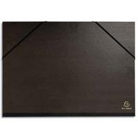 EXACOMPTA Carton à dessin avec élastiques vergé kraft noir 45x32cm noir