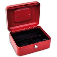 1ER Caisse à monnaie Rouge - Dimensions : L20 x H9 x P16 cm