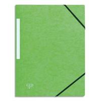 5 ETOILES Chemise 3 rabats monobloc à élastique en carte lustrée 5/10e, 390g. Coloris vert clair.