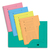 ELBA Paquet de 25 sous-dossiers 2 rabats kraft 240gr coloris assortis pastel