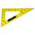 SAFETOOL Equerre 60° en plastique incassable jaune graduée 50cm avec poignée noire amovible pour tableau