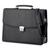 ALASSIO Malette noire Anzio imitation cuir avec plusieurs compartiments 28,5x38x10cm 47013
