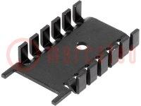 Radiator: gepresst; SOT32; L:35,6mm; W:22mm; H:6,7mm; 21K/W