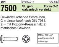 DIN7500 CM4x25-Z