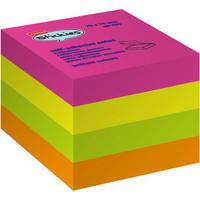 Haftnotizwürfel stickies™, neon, 76x76mm, 4farbig sortiert, 400Bl.
