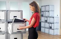 Bankers Box by Fellowes System Storage Drawer Stackable Grey/White Ref 01820 [Pack 5]