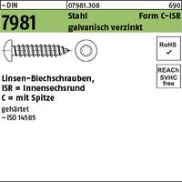 DIN 7981 Stahl 2,2 x 13 -C-T galv. verzinkt passiviert gal Zn S