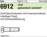 DIN6912 M6 x 16 mm Stahl galvanisch verzinkt 10.9