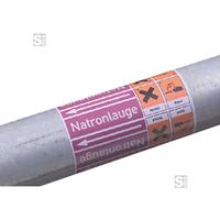 Anwendungsbeispiel: Rohrleitungsband Art. 29.3355-7 + Textnr. 065 + 1. Gefahrsymbol-Nr. 18 + 2. Gefahrsymbol-Nr. 17