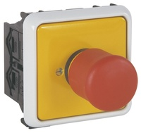 Not-Aus-Schalter fertig montiert für verdrahteten Energiekanal ...