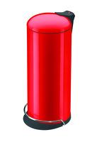 Tret-Abfallsammler, Hailo ProfiLine Solid Design L, signalrot,24 Liter, Inneneimer: verzinkt Bild 1