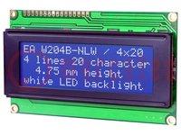Kijelző: LCD; alfanumerikus; STN Negative; 20x4; kék; LED; 98x60mm