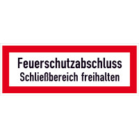 Hinweisschild für den Brandschutz Feuerschutzabschluss.., selbstkl.29,70x10,50cm DIN 4066-D1
