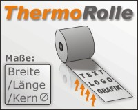 Thermorolle 80/80 m/12 Shell-Text (RBA)