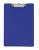 Normalansicht - Ecobra Schreibplatte A4 aus Polypropylen mit gummierter Klemmschiene, blau