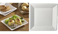 """PAPSTAR Assiette en carton """"pure"""" carré, 225 x 225 x 18 mm (6486615)"""
