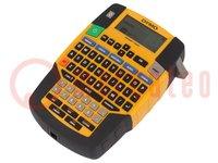 Label printer; Keypad: QWERTY; Plug: EU