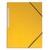 5 ETOILES Chemise simple à élastique en carte lustrée 5/10eme 390g. Coloris jaune. Dimensions 24x32cm