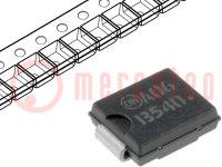 Dióda: Schottky egyenirányító; 40V; 5A; DO214AB