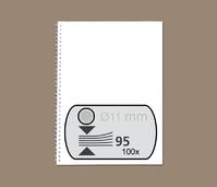 DRAADRUG GBC 11MM 34RINGS A4 ZILVER