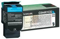 Lexmark C544, C546, X544, X546 Tonerkassette Cyan (ca. 4.000 Seiten)