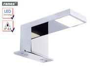 Moderne LED Wandleuchte LAZISE fürs Badezimmer, Spiegelleuchte Chrom ...