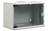DIGITUS 9U SoHo cabinet. unmounted 512x520x400mm. Color grey RAL 7035