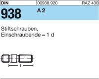 DIN938 A2 M8x55