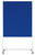 Moderationswand mobile PROFESSIONAL, 120 x 150 cm, dunkelblau, Filzbezug, starr