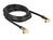 Antennenkabel IEC Stecker gewinkelt an IEC Buchse gewinkelt RG-6/U 3 m schwarz, Delock® [88916]