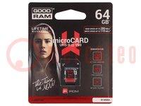 Speicherkarte; IRDM; SD HC Micro; 64GB; Ablesen:280MB/s
