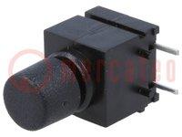 Prepínač: tlačidlový; Polohy:2; SPST-NO; 0,5A/60VAC; 0,5A/60VDC