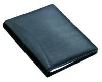Schreibmappe A5 BORMIO, Block, Stift, A5-Einschubfach, Visitenkartenfach, Klarsichtfach, Nappaleder