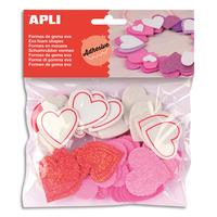 AGIPA Sachet de 52 cœurs pailletés en mousse adhésifs couleurs assorties