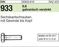 DIN933 M8x170