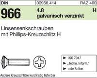 Linsensenkschrauben M6x10-H