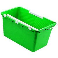 Eimer, Kunststoff, mit Ausgießer, eckig, 18 l, grün