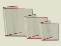 transparent Brunnen 1040251 Buch-, Heftumschlag // Buchschoner, Buchh/öhe 25 cm, 52 x 25 cm, mit rotem Kantenschutz
