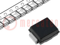 Diode: transil; 600W; 150V; 2,9A; tweerichtings-; SMB