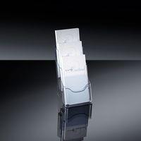 Tisch-Prospekthalter acrylic, mit 3 Fächern_klh133_1