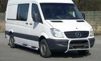 Schwellerrohre mit Trittflächen für Mercedes-Benz Sprinter, Bj. ab 2006, Edelstahl, Radstand 3665mm