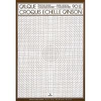 CANSON Bloc de papier calque croquis échelle 50 feuilles 70g A4 Ref-17141