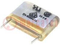 Condensador: de papel; X2; 470nF; 275VCA; Ráster:27,5mm; ±20%; THT