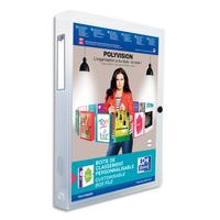 ELBA Boîte de classement transparente personnalisable POLYVISION 24x32cm dos 4cm incolore