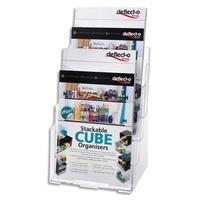 DEFLECTO Porte brochure 4cases format A4 transparent