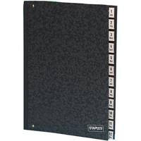 Staples Pultordner RC-Hartpappe 12tlg. schwarz 340x265x20 A4 1-12