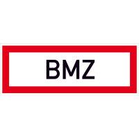 BMZ Hinweisschild Brandschutz, Alu geprägt, Größe 59,40x21,00 cm DIN 4066-D1