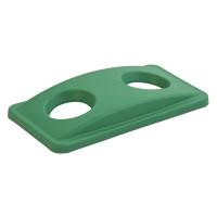 Deckel mit 2 Einwurflöchern für Container 60 L + 87 L Kunststoff grün